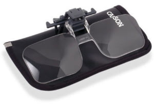 Carson Clip & Flip 1.5x Clip-on, Flip-up Magnifying Lenses for Eyeglasses CF-10