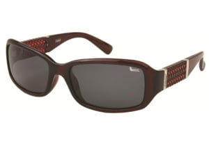 Coleman 6021 Polarized Sunglasses - Burgundy Frame, Smoke Lenses CC1 6021-C3