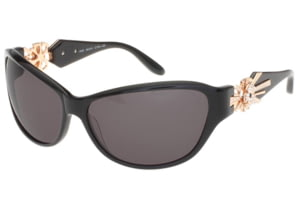 Diva Womens 4162  Sunglasses - Black Frame w/ Grey Gradient Lenses, Size 54-15-125 4162-97AS