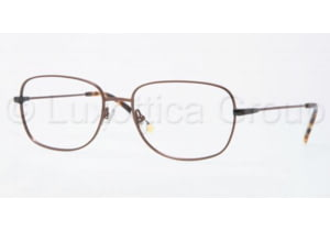 Luxottica LU6563 Single Vision Prescription Eyeglasses 3063-5617 - Brown Frame