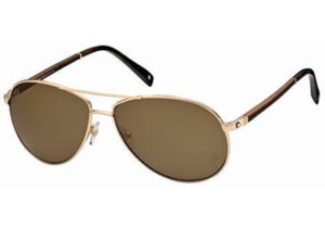 Montblanc MB325S Sunglasses - Gold Frame Color, Brown Lens Color