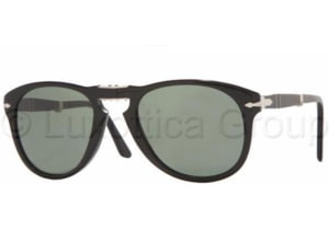 Persol PO0714 Sunglasses 95/58-5221 - Black Crystal Green Polarized