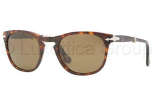 Persol PO3028S Sunglasses 24/57-5222 - Havana Frame, Crystal Brown Lenses