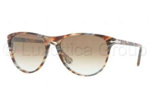 Persol PO3038S Bifocal Prescription Sunglasses PO3038S-978-51-5216 - Lens Diameter 52 mm, Frame Color Brown Striped Grey