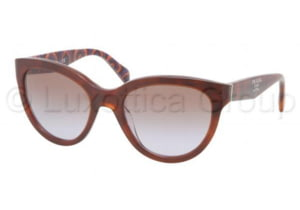 Prada PR05PS Progressive Prescription Sunglasses PR05PS-MAU6P1-5520 - Lens Diameter 55 mm, Frame Color Top Havana/Brown