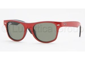 Ray-Ban Junior RJ 9035S Sunglasses Styles - Top Red On Black Frame / Gray Green Lenses, 162-71-4417