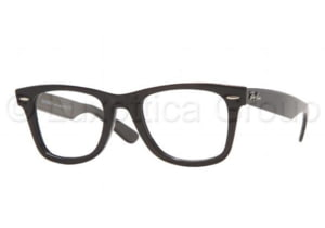 Ray-Ban RX 5121 Eyeglasses Styles - Shiny Black Frame w/Non-Rx 47 mm Diameter Lenses, 2000-4722