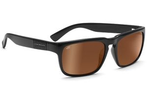 Serengeti Cortino Sunglasses Shiny Black Frame Drivers Gold Polarized Lenses 7701