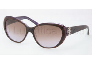 Tory Burch Tory C03 Bifocal Sunglasses TY7005 with Lined Bi-Focal Rx Prescription Lenses TY7005-101868-5615 - Lens Diameter: 56 mm, Frame Color: Tortoise / Purple