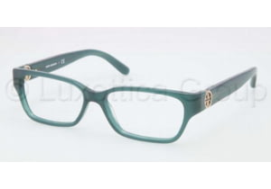 Tory Burch TY2025 TY2025 Single Vision Prescription Eyeglasses 1081-5114 - Dark Turquoise Frame, Demo Lens Lenses