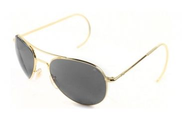 AO II 8-Base Sunglasses, Gold, Comfort Cable, Gray Poly Lens, 58mm, Large G-CCP-CC-58