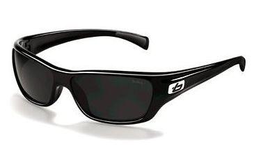 Bolle Crown Sunglasses 11275, Shiny Black Frame, Polarized TNS Lens