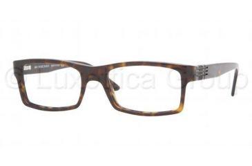 97b9515a0636 Burberry BE 2050 Eyeglasses, Tortoise Frame w/NonRx 52 mm Diameter Lenses,  3002