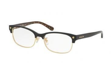 f75d67667e3 Coach HC6098 Eyeglass Frames 5432-53 - Black Gold Dark Tortoise Frame
