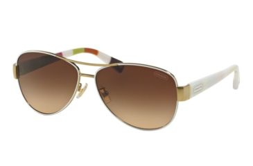 590bcb7474 ... top quality coach l012 kristina hc7003 sunglasses 905113 59 gold white  frame brown gradient lenses 0dd55