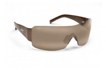 Maui Jim Honolulu Sunglasses w/ Metallic Gloss Copper Frame and HCL Bronze Lenses - H520-23, Quarter View