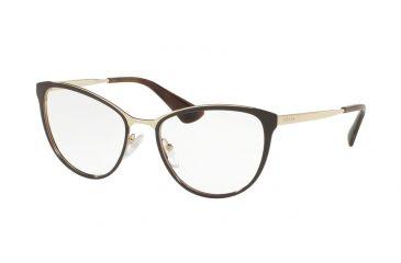 cdfade8a8967 Prada CINEMA PR55TV Eyeglass Frames DHO1O1-54 - Brown Pale Gold Frame