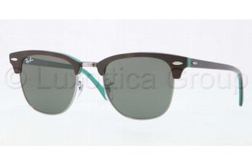 Ray-Ban Clubmaster Sunglasses RB3016 1127-5121 - Top Shiny Havana Frame, Gray Green Lenses