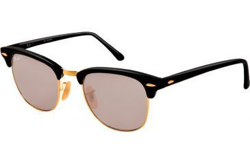 Ray-Ban Clubmaster Sunglasses RB3016 901SP2-49 - Matte Black Frame, polar grey Lenses