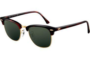 Ray-Ban RB 3016 Sunglasses - Mock Tortoise/Arista Crystal Green Frame / 51 mm Diameter Lenses, W0366-5121