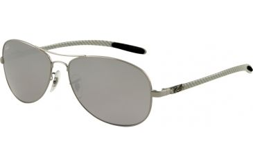 Ray-Ban RB 8301 Sunglasses Styles - Gunmetal Frame, Crystal Mirror Silver-Black 56 mm Lenses, 004-40-5614