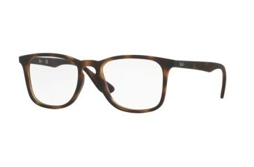 5985b69500 Ray-Ban RX7074 Eyeglass Frames 5365-50 - Rubber Havana Frame