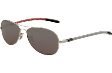 Ray-Ban Sunglasses RB8301 019/N8-5614 - Matte Silver Frame, Crystal Polarized Gray Mirror Silver Lenses