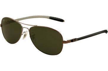 Ray-Ban Sunglasses RB8301 131-5614 - Shiny Gunmetal Frame, Green Lenses