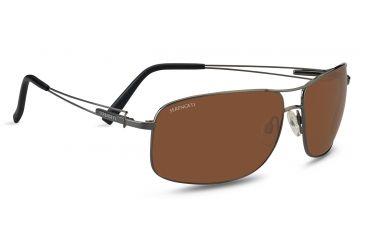 cd3d28485a9 ... 555nm Polarized Lenses 7604. Serengeti Sassari Progressive Rx Sunglasses  - Shiny Gunmetal Frame 7665