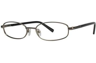 Theory TH1146 Progressive Prescription Eyeglasses - Frame Gunmetal/Black, Size 50/15mm TH114601