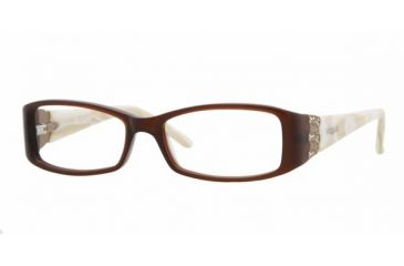 69999fba3a8 Vogue VO 2595B Eyeglasses Styles Brown Frame w Non-Rx 50 mm Diameter Lenses