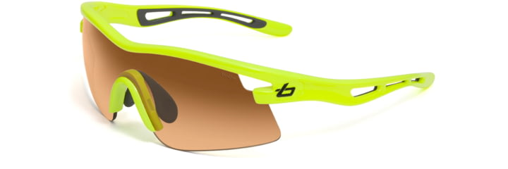 Bolle Sunglasses, S.O.S. Vortex Neon Yellow Frame Photo Amber Lens 11486