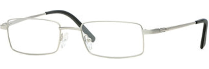 Cutter & Buck CB Highland SECB HIGH00 Single Vision Prescription Eyewear - Silver/black SECB HIGH005240 SV