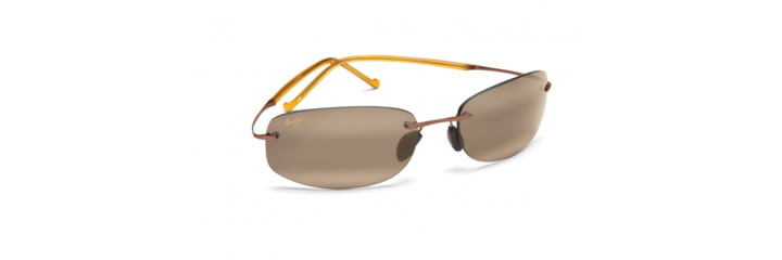 Maui Jim Honolua Bay Sunglasses w/ Amber Frame and HCL Bronze Lenses - H516-21, Quarter View
