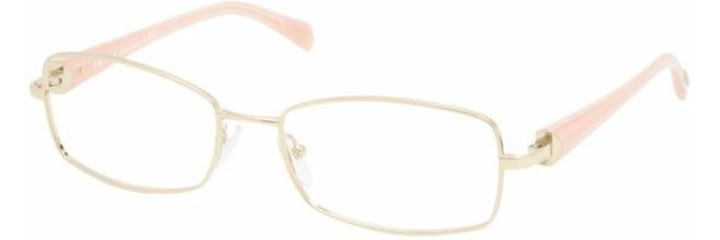 Prada PR59NV Bifocal Prescription Eyeglasses ZVN1O1-5217 - Pale Gold