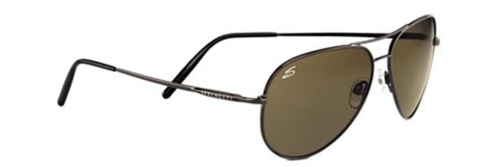 Serengeti Medium Aviator Progressive Rx Sunglasses - Shiny Gun Frame