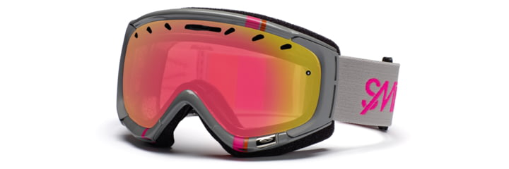 Smith Phase Goggles, Frost Gray Stereo, Red Sensor Mirror PZ6RZGS11