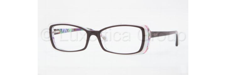 Vogue VO2692 Single Vision Prescription Eyewear 1882-5116 - Top Plum/Flowers Trans