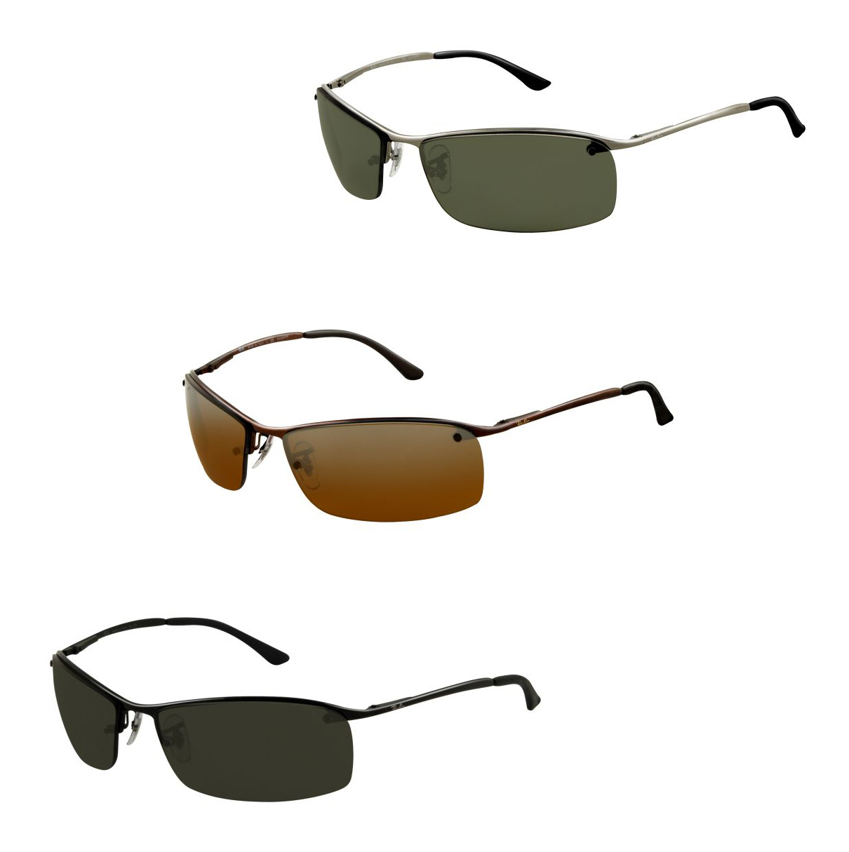 4274e20096505 Ray-Ban Top Bar Sunglasses RB3183 FREE S H RB3183-004-82-63
